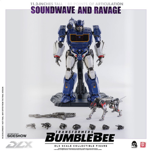 Transformers Soundwave & Ravage Collectible Figure by Threezero