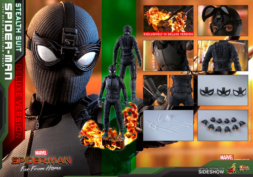 SPIDER-MAN(Stealth Suit) Deluxe Version MMS541 Sixth Scale 1:6 Figure by Hot Toys