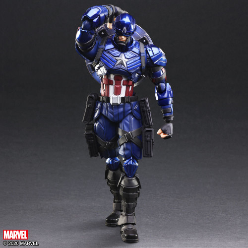 "CAPTAIN AMERICA Marvel Universe Variant BRING ARTS 7"" Action Figure Tetsuya Nomura Design"