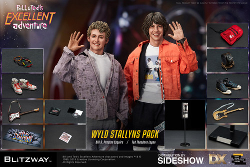 BILL & TED Bill & Ted's Excellent Adventure Sixth Scale 1:6 Figure Set by Blitzway