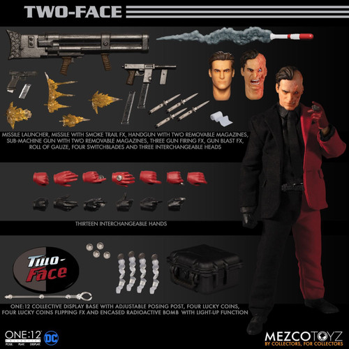 Batman's TWO-FACE (Harvey Dent) ONE:12 Action Figure by Mezco