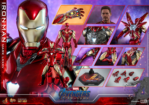 Avengers: Endgame IRON MAN MARK LXXXV Sixth Scale 1:6 DIECAST Figure by Hot Toys MMS528-D30