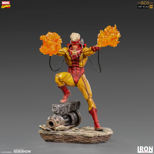 Marvel Comics X-MEN PYRO 1:10 Art Scale Statue by Iron Studios BDS