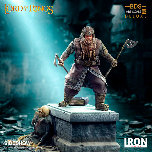 GIMLI (DELUXE) Lord of the Rings 1:10 Art Scale Statue by Iron Studios BDS