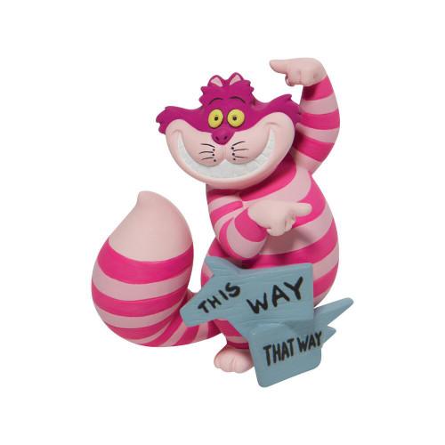 """Wonderland's Cheshire Cat """"THIS WAY"""" Disney Showcase Mini Figure"""
