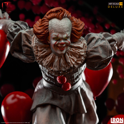Pennywise Deluxe 1:10 Scale Statue by Iron Studios IT Chapter Two