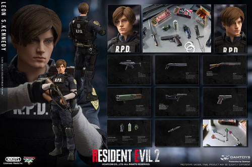 Resident Evil's LEON S. KENNEDY Sixth Scale 1:6 Figure by Nauts x Damtoys