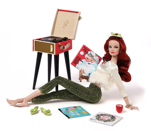 Poppy Parker GINGER GILROY & CINNAMON: Holiday At Home Dressed Doll Gift Set FR/Integrity