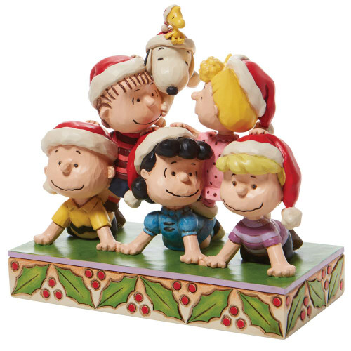 """Peanuts """"STACKED WITH FRIENDSHIP"""" Holiday Pyramid Figure by Jim Shore"""