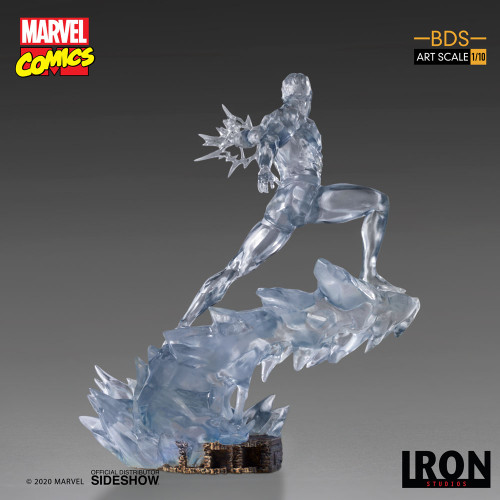 Marvel Comics X-MEN ICEMAN 1:10 Art Scale BDS Statue by Iron Studios (Limited Ed)