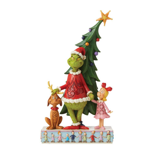 Dr. Seuss GRINCH MAX & CINDY TREE DECORATING How the Grinch Stole Christmas by Jim Shore