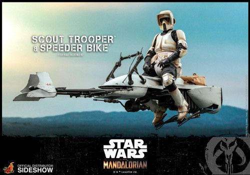 The Mandalorian: SCOUT TROOPER, CHILD & SPEEDER BIKE CE Sixth Scale 1:6 Figure by Hot Toys - TMS017