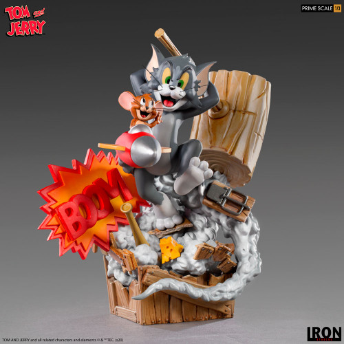 Hanna Barbera's TOM & JERRY Prime 1:3 Scale Statue by Iron Studios (Limited Ed)