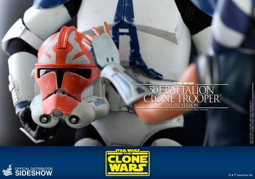 501st Battalion Clone Trooper (Deluxe) Sixth Scale 1:6 Figure by Hot Toys The Clone Wars - TMS023