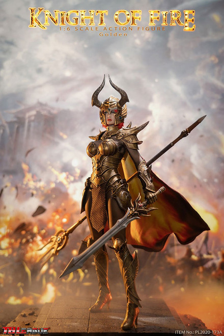 KNIGHT OF FIRE (Golden) Sixth Scale Figure by TBLeague/Phicen
