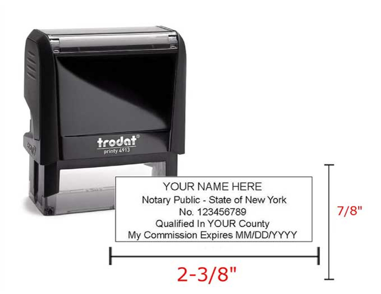 Notary Public Rubber Stamp Printy 4913 7 8 X2 3 8 Self Inking For Easy Use Blue Ink