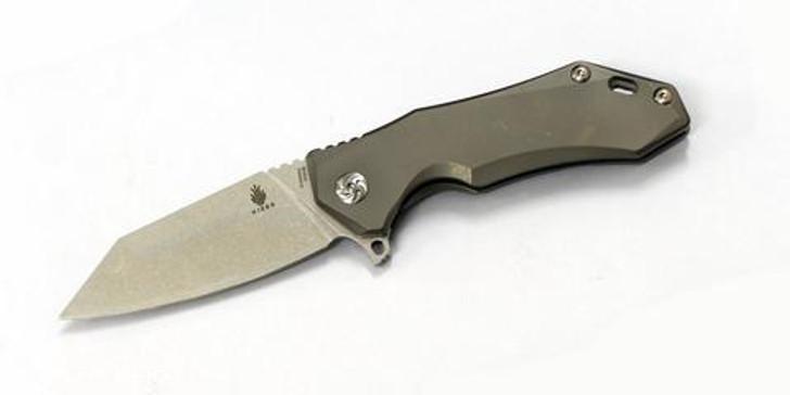 "Kizer Uprising Wharncliffe Frame Lock Knife Titanium (3.6"" Satin) Ki4491A2"