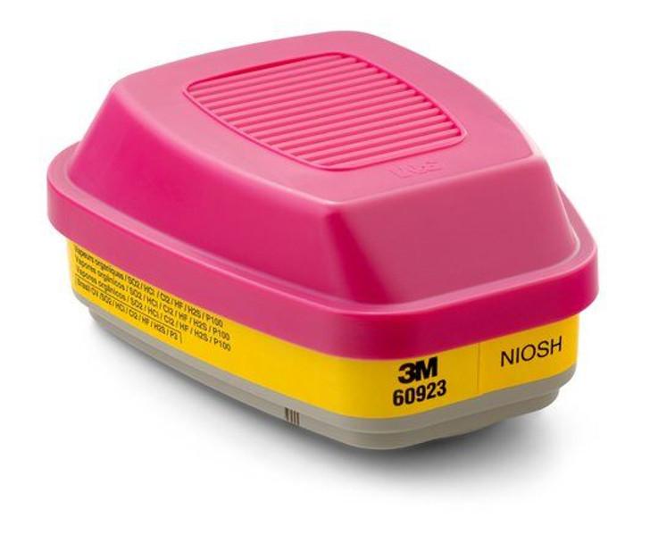 3M 60923 Organic Vapor/Acid Gas Cartridge/Filter P100