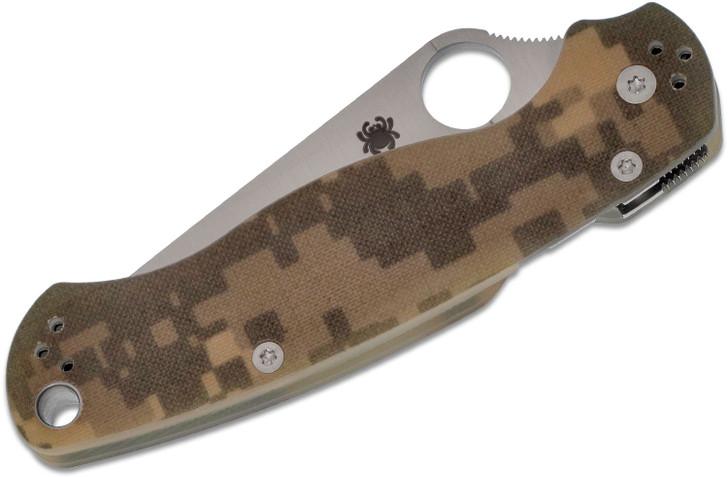 """Spyderco Paramilitary 2 Folding Knife 3-7/16"""" S30V Satin Blade, Digital Camo Handles - C81GPCMO2"""