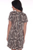 back shows short sleeve mini dress featuring an all over python snake print with back silver zipper, super short hemline and Fully lined.