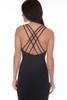 Straight Across Strappy Black Dress