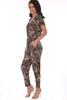 S/S Cheetah Print Jumpsuit