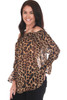 Off The Shoulder Cheetah Blouse