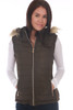 Black vest by Greenlander features a faux fur lining on inside, zip front, detachable faux fur-lined hood, ribbed sides and zipper closure side pockets. True To Size. Shoulder To Hem Measurement: Approximately 23 in. Shell - 100% Polyester, Faux Fur Lining - 100% Polyester, Filling - 100% Polyester, Rib - 100% Polyester, Fur Hood Trim - 80% Acrylic, 20% Polyester. Machine Wash Cold, Hang Dry.