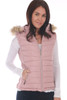 Pink Vest by Greenlander features a faux fur lining on inside, zip front, detachable faux fur-lined hood, ribbed sides and zipper close side pockets. True To Size. Shoulder To Hem Measurement: Approximately 23 in. 100% Polyester, Faux Fur Lining - 100% Polyester, Filling - 100% Polyester, Rib - 100% Polyester, Fur Hood Trim - 80% Acrylic, 20% Polyester.Machine Wash Cold, Hang Dry.