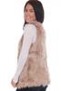 Melange Long Faux Fur Vest