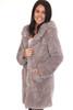 Faux Fur Hoodie Coat
