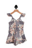 Sage Romper for Little Kids.  This sleeveless romper features adjustable straps, a smocked backing and surplice-like crossed front. Only available in size 6X.  100% Cotton, Lining - 100% Cotton. Hand Wash Cold, Hang Dry.