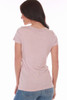 Short sleeve V-Neck Tee in White, Black, Salsa or Blush.  One Size fits all.  Shoulder To Hem Measurement is Approximately 25 inches.  50% Supima, 50% MicroModal.  Machine Wash Cold, Tumble Dry Low.