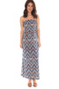 Strapless Ruched Slit Maxi Dress