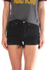 501 Distressed Black Denim Shorts