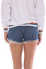501 Distressed Blue Denim Shorts