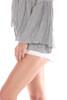 501 Distressed White Denim Shorts