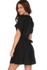 Linen-Blend Button Down Dress W/ Tie