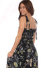 Isla Midi Dress has spaghetti straps that tie at the shoulder and a smocked front.  It fits true to size. Shoulder To Hem Measurement is Approximately 49 in.  100% Viscose.  Hand Wash Cold, Line Dry.
