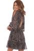 Chiffon Cheetah Print Mini Dress
