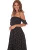 Strapless Dark Floral Maxi Dress