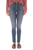 Charlie Ankle Jeans W/ Exposed Button Fly