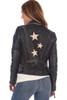 Leather Biker Jacket W/ Stars