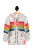 Rainbow Striped Hooded Zip Up Sweater (Little Kid)