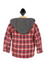 Snap Up Hooded Flannel Shirt (Toddler/Little Kid)