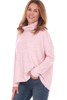 Fuzzy Cowl Neck L/S Ribbed Top