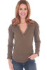 Military Mixed L/S Henley Top (+ colors)