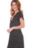 S/S Midi Dress With Front Tie