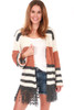 Cozy Striped Sweater Cardigan