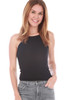 High Neck Lined Cropped Tank (+ colors)